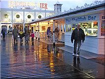 TQ3103 : Pier Shellfish Bar, Brighton Pier, East Sussex by Christine Matthews
