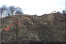 SE1322 : Landslide Repair Works at Reins Wood by Richard Kay