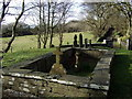 SN1343 : Monington church, graveyard by ceridwen