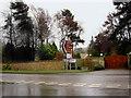 SE2707 : A635 junction near Cannon Hall Cawthorne by Steve  Fareham