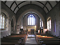 SD6082 : St. Peter's Church at Mansergh - interior by John Illingworth