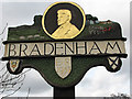 TF9208 : Bradenham - village sign by Evelyn Simak