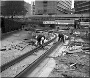 SJ8498 : Delta junction, Manchester by Dr Neil Clifton