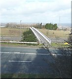 SE1220 : Footbridge over the M62, New Hey Road, Fixby by Humphrey Bolton