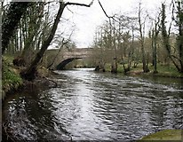 SK3155 : Wigwell Aqueduct Over The River Derwent by Rob Bradford