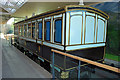 NO3695 : Ballater Station - reproduction of a Victorian railway saloon carriage by Nigel Corby