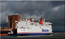 "J3576 : The ""Stena Caledonia"", Belfast by Albert Bridge"