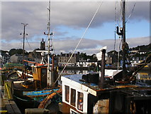 NR8668 : Tarbert from the Quay by Wendy Kirkwood