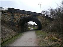 SK2169 : Baslow Road (A619) Crosses Monsal Trail by Alan Heardman