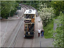 SK3455 : Sheffield Tram at Crich Tramway Village by Keith Edkins