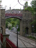 SK3455 : Bowes Lyons bridge, Crich Tramway Village by Keith Edkins