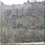 SE1322 : Ballet for excavators, Reins Wood, Elland by Humphrey Bolton