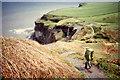 NZ9408 : Maw Wyke Hole waterfall by Bart Horeman