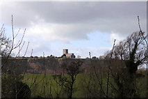 SK4023 : Breedon Church from the A42 by David Lally