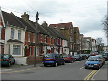 TQ7369 : Vicarage Road, Strood by Danny P Robinson