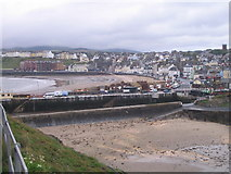 SC2484 : Peel Bay, from the Castle walls by M J Richardson