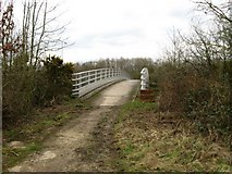 TQ2253 : Footbridge over M25 cutting by Colin Bell