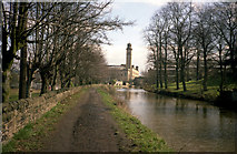 SE1338 : Towards Salts Mill, Leeds and Liverpool Canal by Dr Neil Clifton
