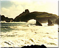 SW6813 : High Tide At Kynance Cove by Keith Laverack