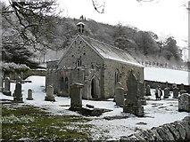 NN8765 : St Adamnan's Church, Kilmaveonaig, Easter Sunday 2008 by Russel Wills
