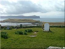 NG2261 : Gravestones at Trumpan by Dave Fergusson