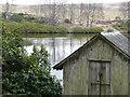 NN8762 : Boathouse on fishing lochan by Russel Wills