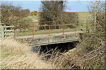 NU0544 : Bridge over the North Low near Goswick by Peter Gamble