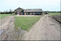 TL4352 : Farm Buildings near Hauxton by Duncan Grey