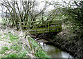 SJ3404 : Small Footbridge near Rea Brook by Dave Croker