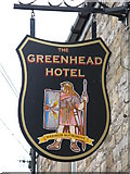 NY6565 : Sign for the Greenhead Hotel by Mike Quinn