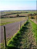 TQ2010 : Footpath down Windmill Hill by Simon Carey