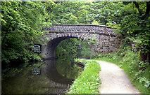 SD9926 : Mayroyd Bridge 15, Rochdale Canal by Dr Neil Clifton