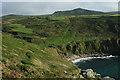 SW4237 : South West Coastal Path at Porthmeor Cove by Row17