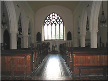 TG1022 : St Mary's church - view west by Evelyn Simak