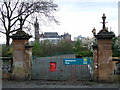 NS5766 : Kelvingrove Park gate by Thomas Nugent