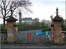 NS5766 : Kelvingrove Park gate by Thomas Nugent