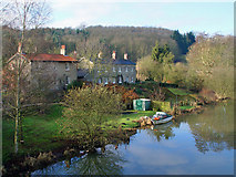 SE7365 : The River Derwent at Kirkham, upstream by Peter Church