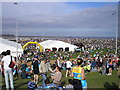 NZ3766 : Tented Village in the Veladrome, Great North Run by Iain Lees