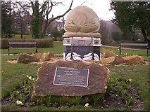 SK0573 : Lew Mounsey memorial, Pavilion Gardens, Buxton by Peter Fuller