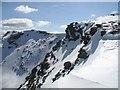 NN3238 : Crags and cornices, Beinn Dòrain by Richard Webb