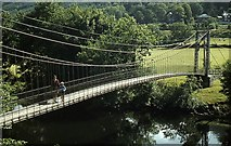 SH7956 : Suspension Bridge at Betws-Y-Coed by John Firth
