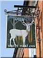 TM3877 : White Hart Inn sign by Keith Evans