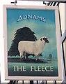 TM3389 : Sign for the Fleece, Bungay by Maigheach-gheal