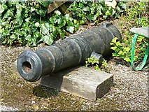 ST7693 : Old cannon, Ram Inn, Potters Pond, Wotton under Edge by Brian Robert Marshall