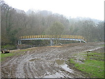 NY7962 : New Bridge at Plankey Mill by Les Hull