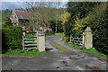SO7546 : Entrance to Bank Farm, West Malvern by Philip Halling