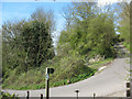 TQ8058 : Sharp bend below Thurnham Castle by Stephen Craven