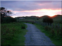SJ1184 : Sunset over Talacre Sand Dunes by Anthony Duffy