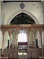 TG1633 : St Andrew's church - medieval rood screen by Evelyn Simak