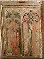 TG1633 : St Andrew's church - rood screen detail by Evelyn Simak